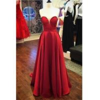 Buy cheap Red Satin Sweetheart 2016 Evening Gowns Long A-line Elegant Cheap Prom DressItem Code: CE0075 from wholesalers