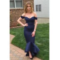Quality 2016 Navy Sheath Evening Dresses Off The Shoulder Sexy Open back Prom GownItem Code: CE0070 for sale
