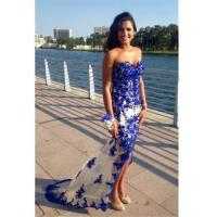 Quality Sweetheart Blue 2016 Prom Dresses Sheer Tulle Lace Evening GownsItem Code: CE089 for sale