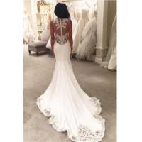 Buy cheap 2016 Sexy Mermaid Wedding Dresses Sheer Mesh Bridal Gowns with Lace Court TrainItem Code: WE0069 from wholesalers