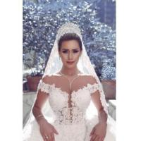Buy cheap 2016 V-neck Off Shoulder Wedding Dresses Lace Ball Gown Bridal Gowns Item Code: WE0121 from wholesalers