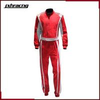 Quality Auto Racing Suit (77) Two layer 100% cottom one piece auto racing suit red white RB-0001customize for sale
