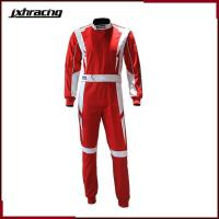 Quality Auto Racing Suit (77) Two layer 100% cotton one piece auto racing suit red white C068 for sale