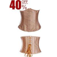 Quality Sexy Brown Plus Size Underbust Waist Training Corset for sale