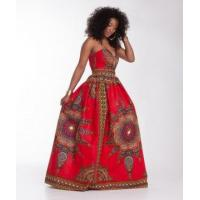 Quality African Wax Sweatheart Maxi Dress 21453 for sale