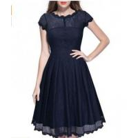 Quality Overal Lace Pleated Skater Dress 20883-3 for sale