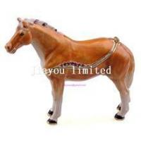 Quality TBP0014Y-horse trinket jewelry box horse figurine statue metal home decor for sale