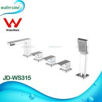 Quality 5-hole deck mounted hot and cold bathtub mixer JD-WS315 for sale