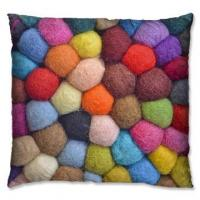 Weave Pattern Series wool knit candy color cushion 1