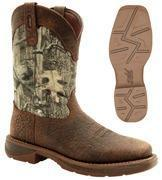 "Quality Durango Boots - WORKIN REBEL - Men's 11"" Leather Western Camo Boots - Brown / Mossy Oak Break Up for sale"