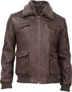 Buy cheap Durango Leather Co. THE EABLE EYE Men's Leather Jacket - Dark Brown from wholesalers