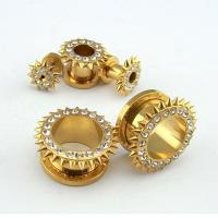 China Plated Gold Screw Ear Tunnel on sale