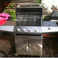Quality Full Stainless steel 4-Burners Gas BBQ Grills for sale