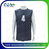 China Volleyball shirts Sleeveless round neck mens volleyball jersey on sale