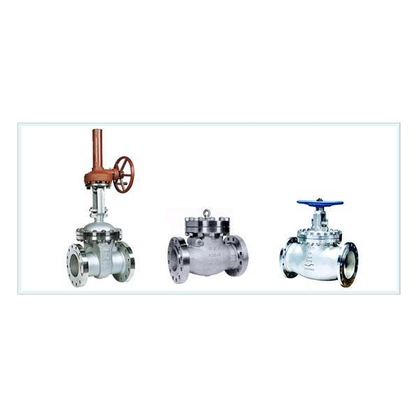 Cast stainless steel gate globe check valves