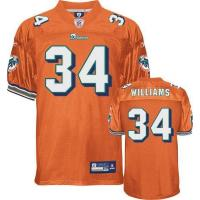 China Miami Dolphins Miami Dolphins R.Williams 34# Orange Jerseys on sale
