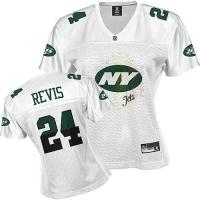 Quality revis 24# new york jets women white jersey for sale