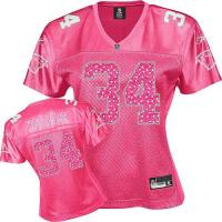 China williams 34# miami dolphins women pink jersey on sale