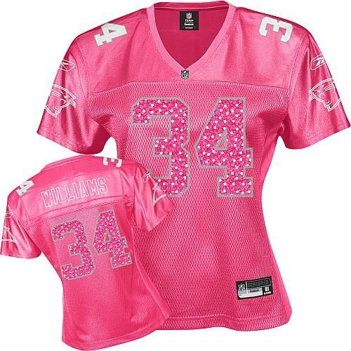 Buy williams 34# miami dolphins women pink jersey at wholesale prices