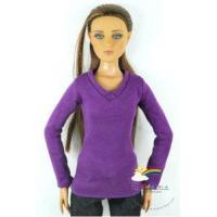 """Quality 16"""" Tonner Tyler/Gene Outfit Long Sleeves Tee Purple for sale"""