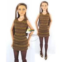 """Quality 16"""" Tonner Tyler/Gene Outfit Gold Stripes Dress Brown for sale"""