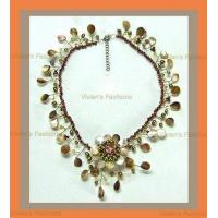 Buy cheap Choker - Ivory, Pearl, Flower, with Brooches from wholesalers