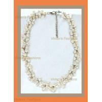 Buy cheap Choker - Small Flowers, White Pearl from wholesalers