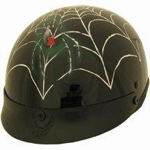 Buy DOT Spider Web Shorty Motorcycle Helmet at wholesale prices