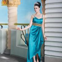 China 4046# Sexy spaghetti strap long satin dress on sale
