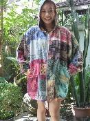China Thai Patchwork Silk Cotton Blend BEST Hoodie Anywhere on sale