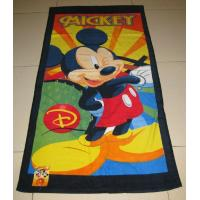China Cotton Reactive Printed Velour Beach Towels on sale