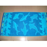China 100% Cotton Yarn Dyed Jacquard Beach Towels on sale