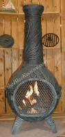 Quality Gas Chimineas Orchid Chiminea Outdoor Fireplace w/Gas[ALCH046GK] for sale