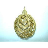 Quality Acrylic/Plastic Ornaments Gold Acrylic Rose Leaves Ball(282265) for sale
