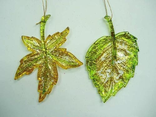 Buy Acrylic/Plastic Ornaments Foil Flat Leaf(266221FOI) at wholesale prices
