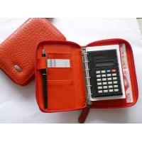 Quality BBH-039 zipped organizer with calculator for sale