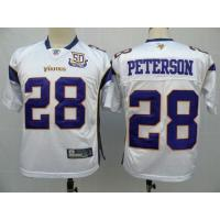 Buy cheap NFL Jerseys Minnesota Vikings 28 Peterson white 50th from wholesalers