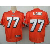 China NFL Jerseys Miami Dolphins 77 Long orange on sale