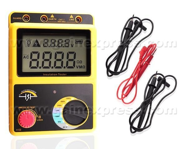Buy Insulation Volt Resistance Tester Meter 0~20G 50~1000V at wholesale prices