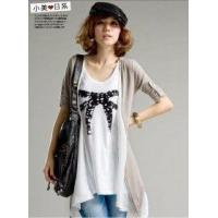 Buy cheap Inky Ribbon Chiffon + Cotton Smock Sewn 2 in 1 Blouse from wholesalers