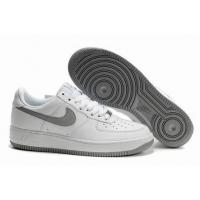 Quality Nike Low Tops Air Force 1 Clean While Metallic Silver Accents for sale