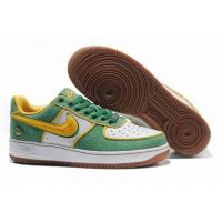 Quality Nike Low Tops Air Force 1 QueensGreen Gold White Shoes for sale
