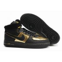 Quality Nike High Tops Air Force 1 Supreme Nitro Microphone Black Gold Elephant Print for sale