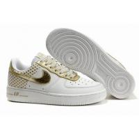 Quality Nike Low Tops Air Force 1 GS Independence Day Pack White Metallic Gold for sale