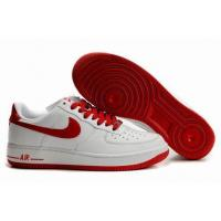 Quality Nike Low Tops Air Force 1 White Sport Red Shoes for sale