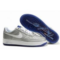 Quality Nike Low Tops Air Force 1 Futura Metallic Silver White Purple Sole for sale