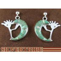 Quality Turquoise And Opal Whiterock Eagle Spirit Sterling Silver Kokopelli Post Dangle Earrings RS36105 for sale