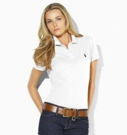 Buy Ralph Lauren Woman Classic Polo Shirt - White at wholesale prices