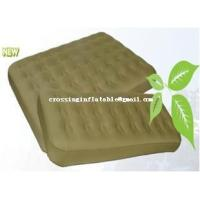 China air bed single TPU flocked inflatable air mattress air bed on sale