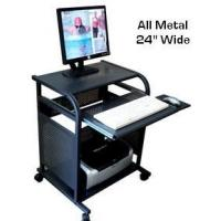 Quality STS5801-METAL: 24 inch wide All-Metal narrow computer cart - Black for sale
